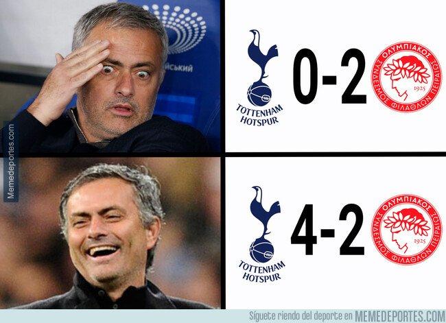 1092120 - Menudo susto debió llevarse Mourinho en su regreso a la Champions