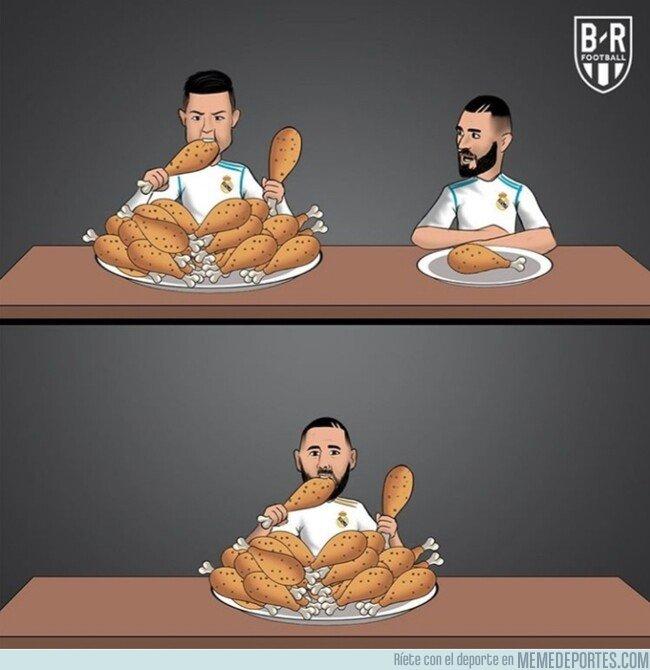 1092160 - Desde que Cristiano no está, Benzema come doble, por @brfootball