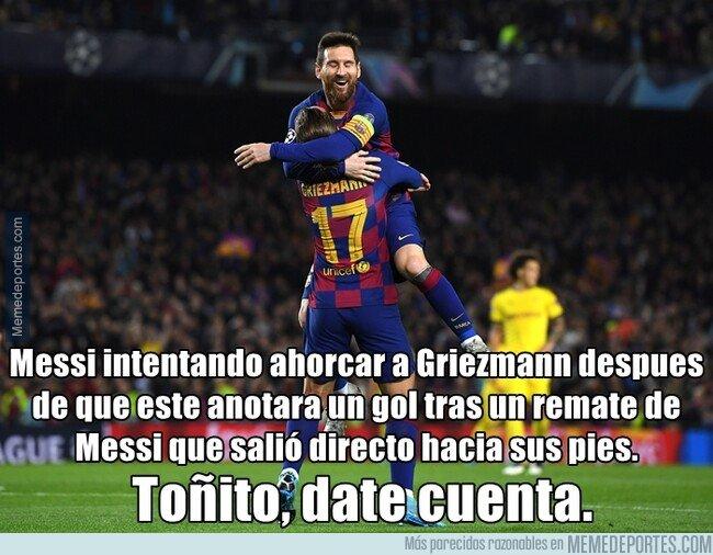 1092175 - Otro desplante de Messi a Griezmann que le odia