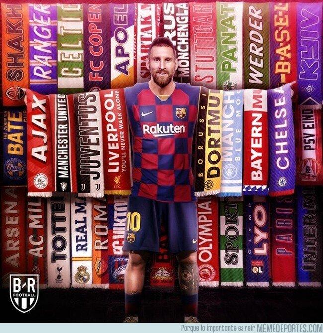 1092185 - Messi ya ha anotado ante 34 rivales diferentes en Champions, por @brfootball