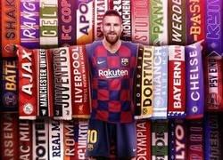 Enlace a Messi ya ha anotado ante 34 rivales diferentes en Champions, por @brfootball