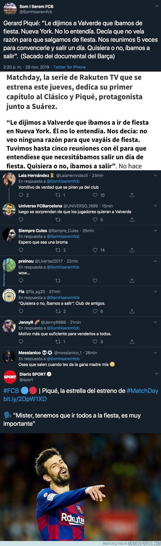 1092207 - La polémica frase de Piqué sobre fiestas en el documental del Barça que está causando gran revuelo