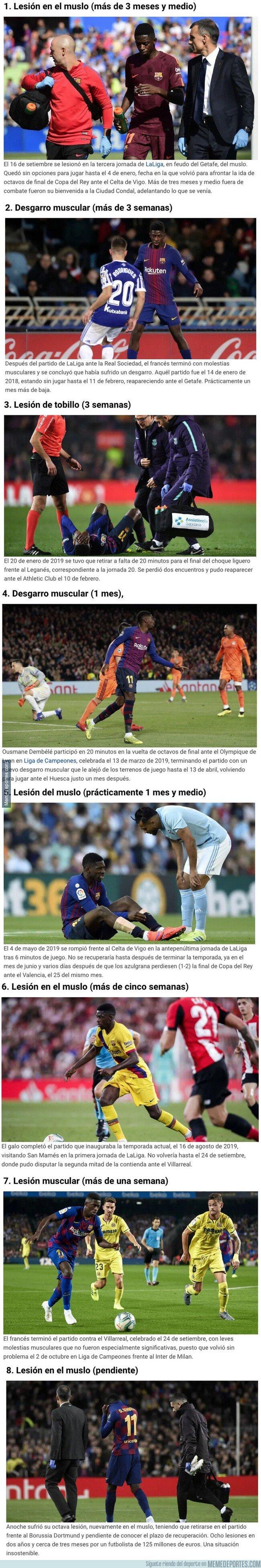 1092213 - Estas son las ocho lesiones de Ousmane Dembélé desde que llegó al Barcelona