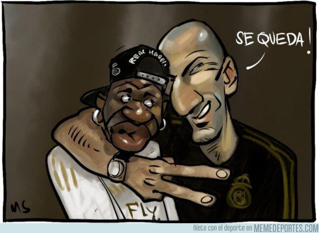 1092311 - Zidane confirma que Vinicius no se va a ninguna parte, por @Yesnocse