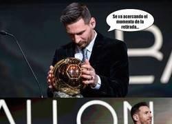 Enlace a Messi se ha pensado mejor lo de su retirada... después del hat-trick de Joaquín