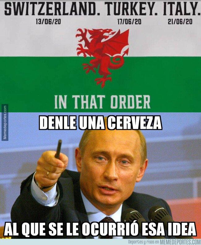1092383 - Así anunció la selección de Gales sus rivales en la EURO 2020
