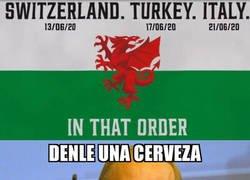 Enlace a Así anunció la selección de Gales sus rivales en la EURO 2020