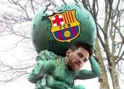 Enlace a El Barça se sostiene sobre el poderío de Messi