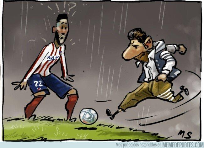 1092497 - La indumentaria del primer equipo culé aturdió a los jugadores del Atlético, por @yesnocse