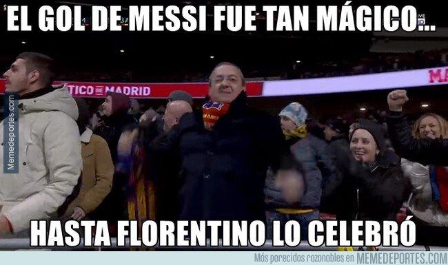 1092517 - Pillaron a Florentino apoyando al Barça en el Metropolitano