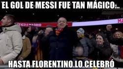 Enlace a Pillaron a Florentino apoyando al Barça en el Metropolitano