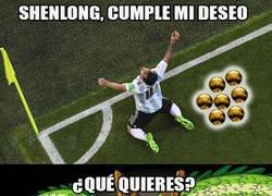 Enlace a Y un día Messi reunió los 7 balones de oro