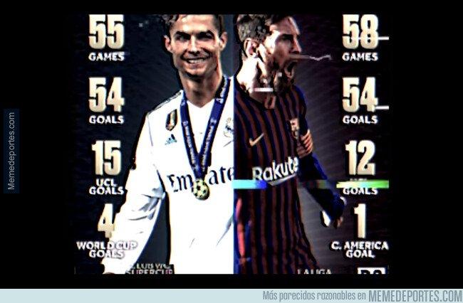 1092597 - CR7 2018 x Messi 2019 - Uno ganó la champions y el otro LaLiga