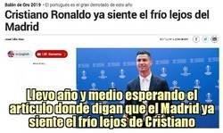 Enlace a Cristiano ya siente el frío... ¿y el Madrid desde cuándo lo siente?