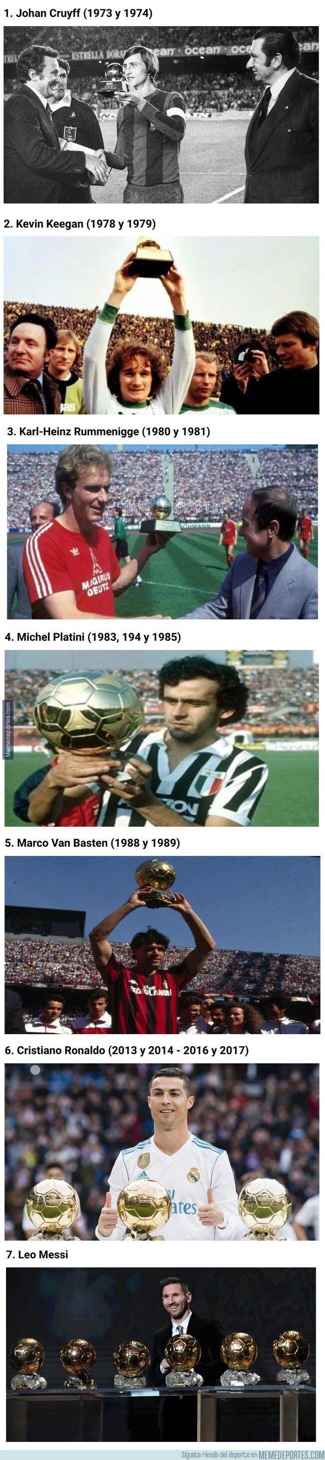 1092672 - Estos son los 7 futbolistas que ganaron el Balón de Oro dos veces seguidas