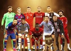 Enlace a Los 11 mejores futbolistas del planeta según el Balón de Oro, por @433