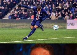Enlace a Tremendo golazo que se inventó Mbappé frente al Nantes