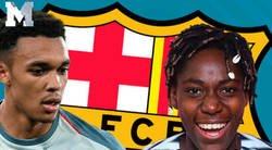 Enlace a Alexander-Arnold intenta reírse del Barça por el córner de Anfield y Oshoala, jugadora del Barça femenino le da un revés descomunal