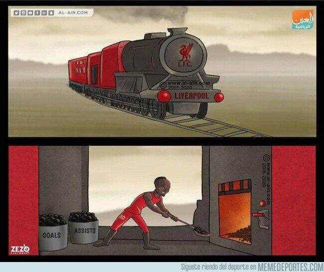 1092812 - Mané engrasa la locomotora de Anfield, por @zezocartoons