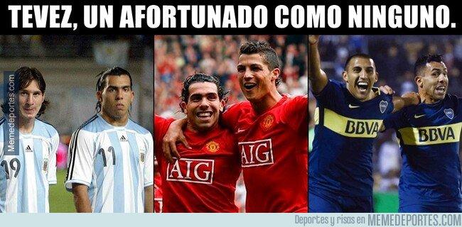 1092814 - Tevez se ha codeado con Messi, Cristiano y Wanchope
