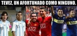 Enlace a Tevez se ha codeado con Messi, Cristiano y Wanchope