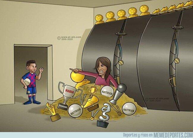 1092980 - En casa de Messi ya no caben más reconocimientos, por @zezocartoons