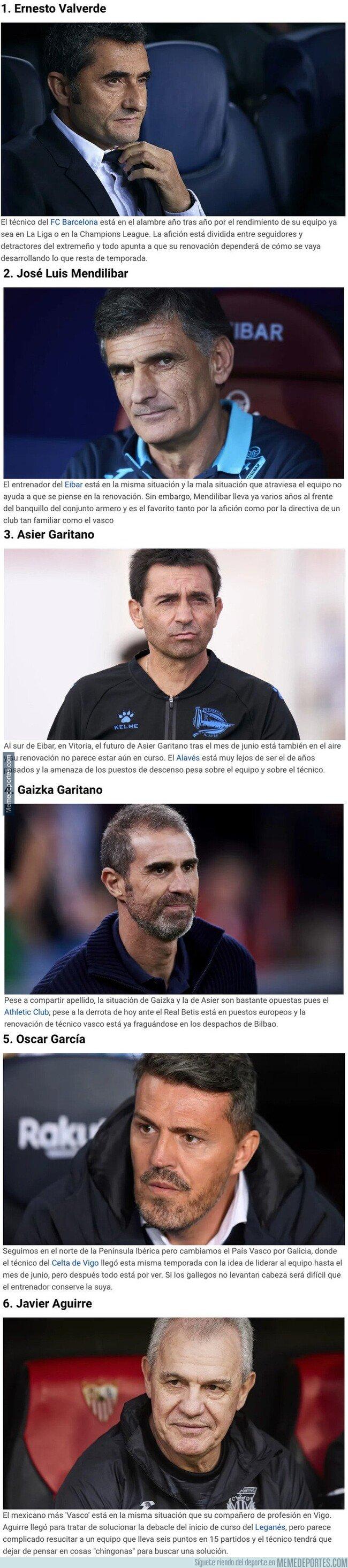 1093052 - Estos son los 6 entrenadores de LaLiga que acaban contrato en junio