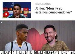 Enlace a Junior y Messi se están conociendo