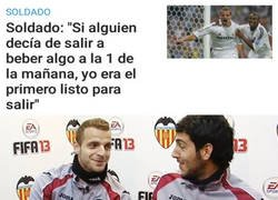 Enlace a Soldado debió hacer muy buenas migas con Parejo en su etapa como valencianista
