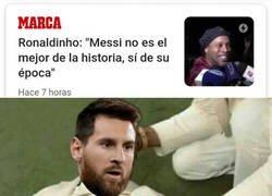 Enlace a Messi ha sido traicionado por su predecesor