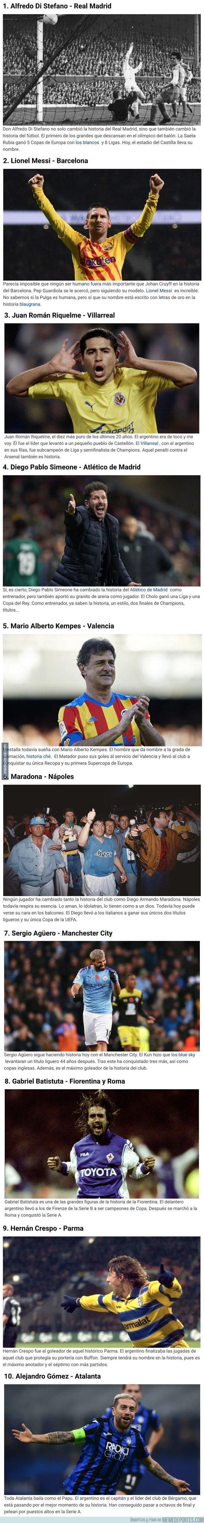 1093425 - 10 jugadores argentinos que cambiaron la historia de clubes europeos