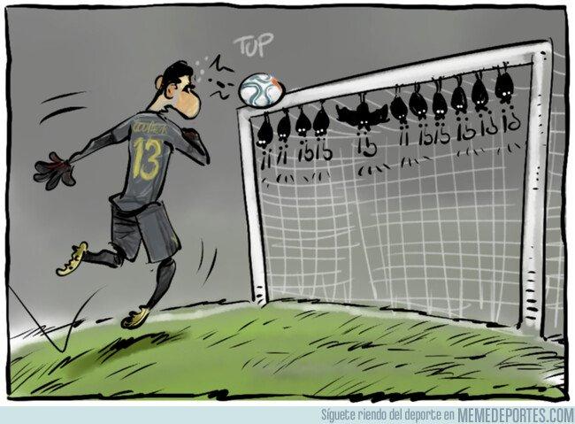 1093599 - Courtois haciéndose grande en el último minuto del partido
