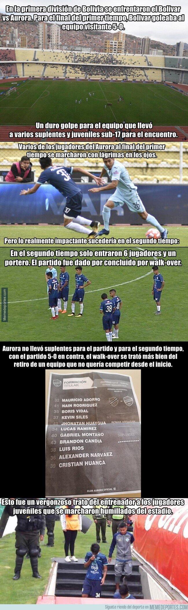 1093678 - El vergonzoso final de partido en Bolivia con un equipo que solo llevó a 6 jugadores
