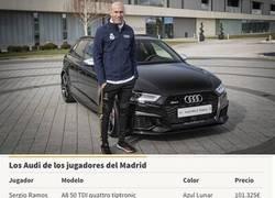 Enlace a Este es el precio de los cochazos que han elegido los jugadores del Real Madrid; el de Sergio Ramos el más caro