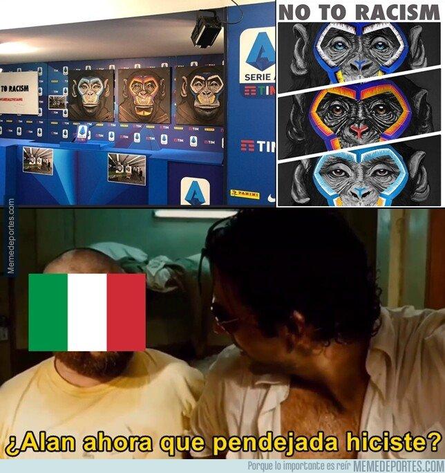 1093724 - En Italia iniciaron una campaña 'contra' el Racismo usando la imagen de simios. ¡GENIOS!