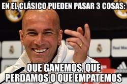 Enlace a Zidane tiene la clave del Clásico