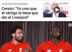 Enlace a Cerezo provoca las risas en el vestuario del Liverpool