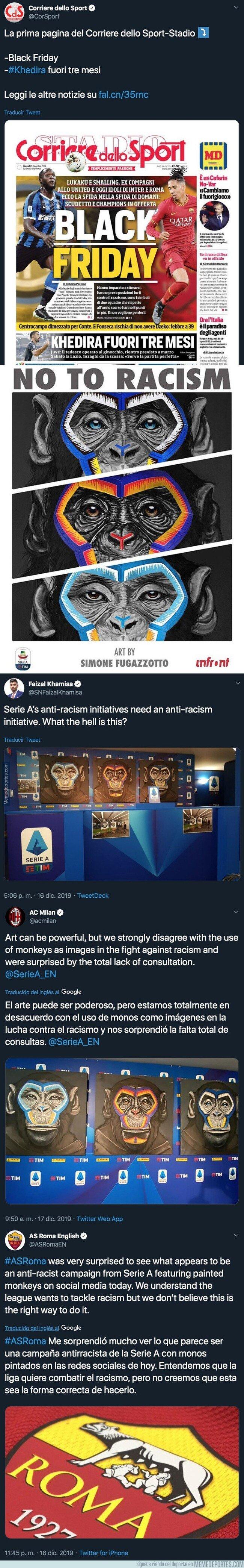 1093795 - Muy fuerte: La Serie A usa imágenes de estos monos como parte de su campaña en contra del racismo