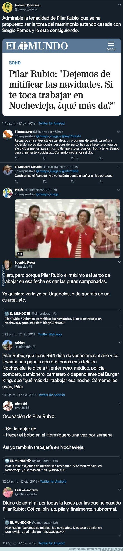 1093802 - Fuertes críticas a Pilar Rubio por lo que ha dicho sobre la gente que tiene que trabajar en Nochevieja