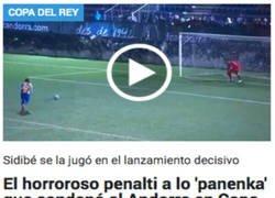 Enlace a Piqué no estará orgulloso de ese lanzamiento de penalti