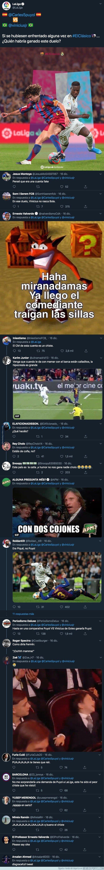 1093835 - Gran polémica: La Liga junta en una misma imagen a Vinicius con Puyol preguntando quien ganaría en un duelo y Twitter responde indignado