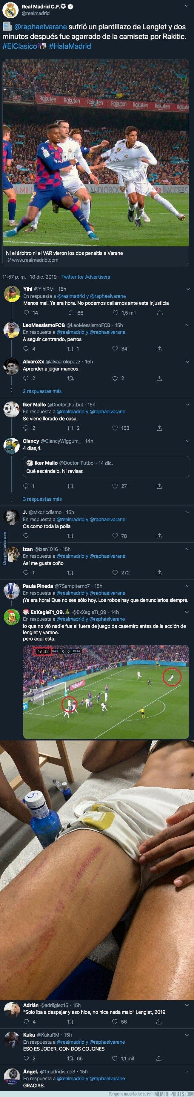 1093979 - El tuit del Real Madrid rajando del árbitro tras el Clásico que no esperaban los madridistas y están aplaudiendo muy fuerte