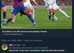 Enlace a El tuit del Real Madrid rajando del árbitro tras el Clásico que no esperaban los madridistas y están aplaudiendo muy fuerte