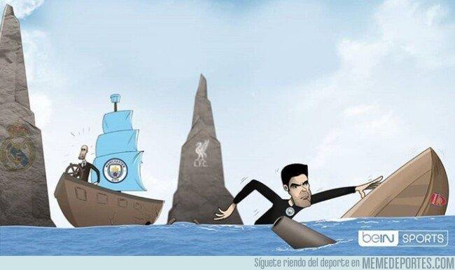 1094098 - Arteta cambia de barco, por @footytoonz