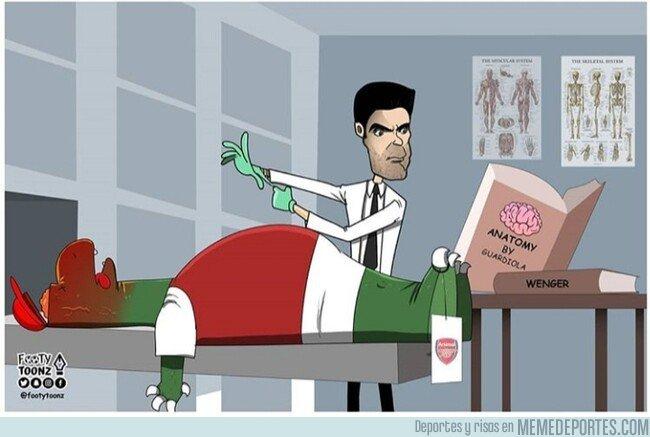 1094137 - Arteta tendrá que poner en práctica todo lo aprendido para resucitar al Arsenal, por @footytoonz