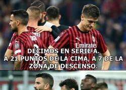 Enlace a Así va el Milan. Se pudrió todo.
