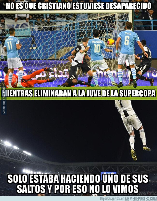 1094246 - Cristiano saltó tanto ante la Lazio que no se le vio
