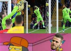 Enlace a De Gea falló estrepitosamente en el primer gol del Watford