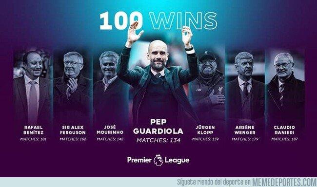 1094648 - Guardiola el entrenador que más rápido llegó a las 100 victorias en la Premier