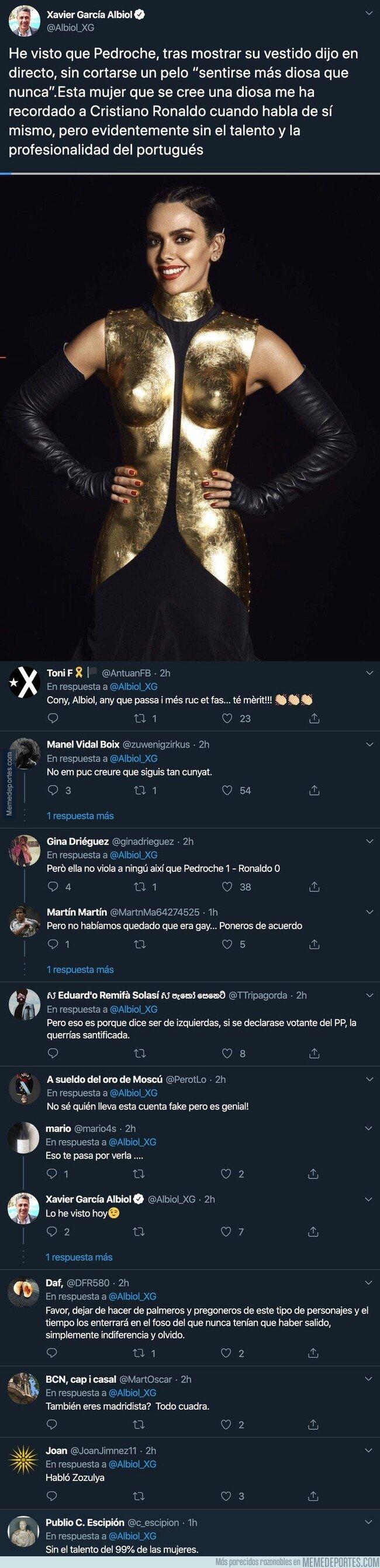 1094824 - Xavier García Albiol la lía comparando a Cristina Pedroche con Cristiano Ronaldo por la imagen dada en Nochevieja dando las uvas